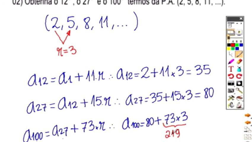 MATEMÁTICA ESAF - AULA 01 - PARTE 02 - P.A.