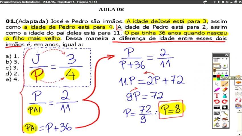RACIOCÍNIO LÓGICO ATRFB - 2016 - AULA 08 - PARTE 01