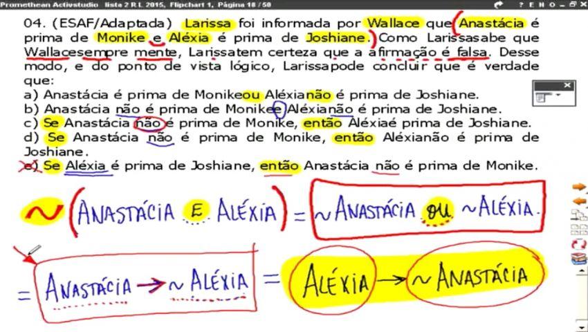 RACIOCÍNIO LÓGICO ATRFB - 2016 - AULA 02 - PARTE 02